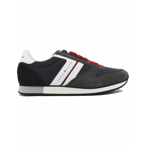 Sneaker in Seude e Tela