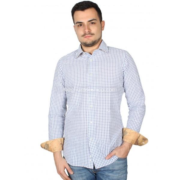 low priced 2c26b 5a98e Camicia Uomo Slim Fit Maniche Lunghe Quadri
