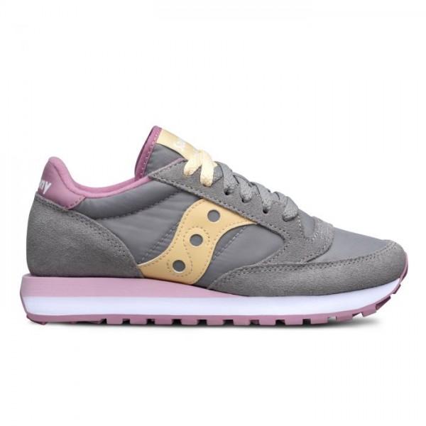 Sneakers Saucony Jazz Grigio Giallo Rosa